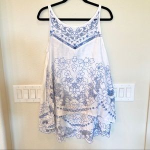 Anthropologie White Lace Top
